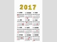 Calendário 2017 com Feriados para baixar e imprimir Toda