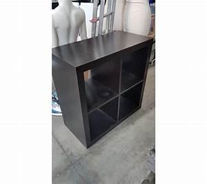 Petit Meuble Noir : petit meuble ikea 4 cases en bois noir ~ Teatrodelosmanantiales.com Idées de Décoration