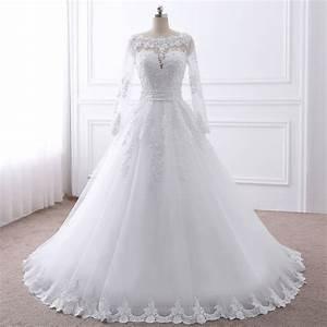 Robe Mariage Dentelle : vente robe de mariage manches longues arabe dentelle ~ Mglfilm.com Idées de Décoration