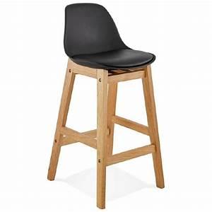 Chaise Mi Hauteur : tabouret de bar chaise de bar mi hauteur design scandinave florence mini noir ~ Teatrodelosmanantiales.com Idées de Décoration