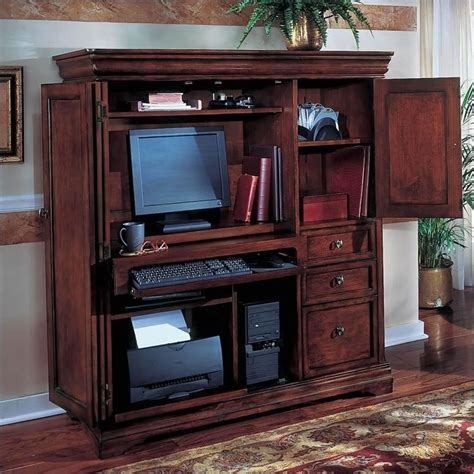 Used Computer Armoire by Dmi Rue De Lyon Computer Armoire In Chocolate Patina