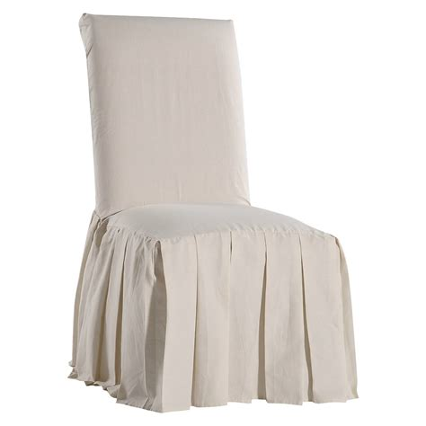 cotton duck pleated dining chair slipcover ebay