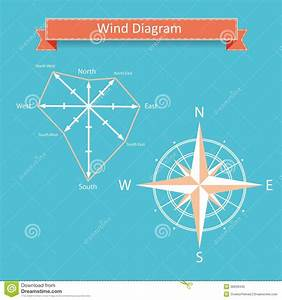 Wind Rose Diagram Vector For Infographics Royalty Free