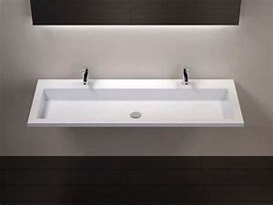 vasques largeur 120 plan vasque suspendue ou a encastrer With salle de bain design avec grande vasque à encastrer