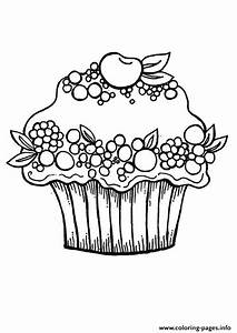 Hello Kitty Cupcake Coloring Pages - AZ Coloring Pages
