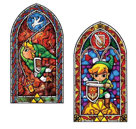 legend of stained glass wall decal thinkgeek