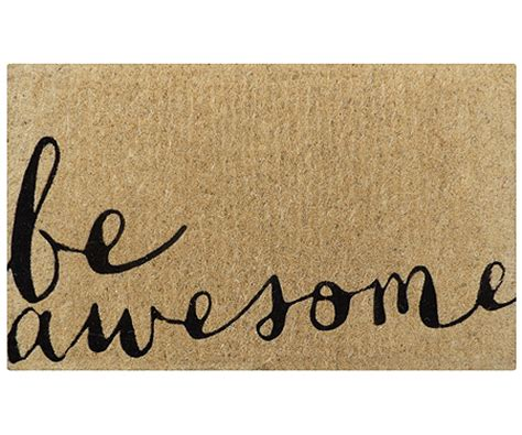 awesome doormats be awesome coir doormat doormats large and small for a