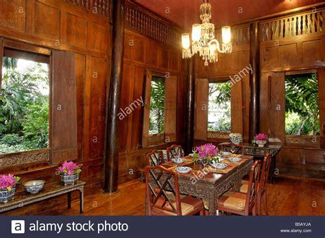 southeast asian decor interior of jim thompson s thai house bangkok thailand