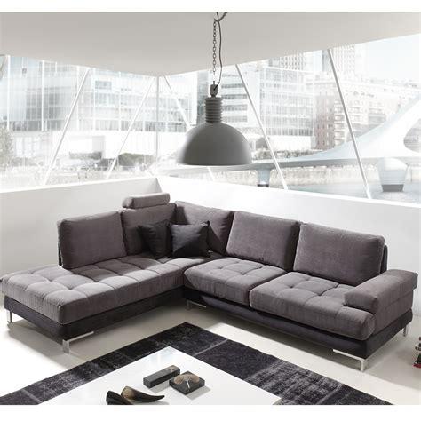 canap駸 en tissu canap angle gris et noir en tissu sofamobili