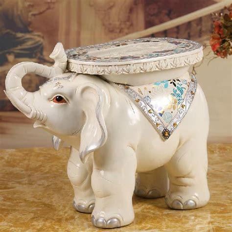 Elephant Ottoman - white elephant shape ottoman sofa stool footstool