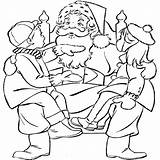 Santa Coloring Spanish Claus Template Pages Drawing Printables Popular Coloringhome sketch template