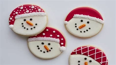 decorate snowman cookies youtube