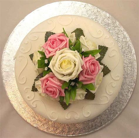 cake decorations cream pink rose luxury cake topper