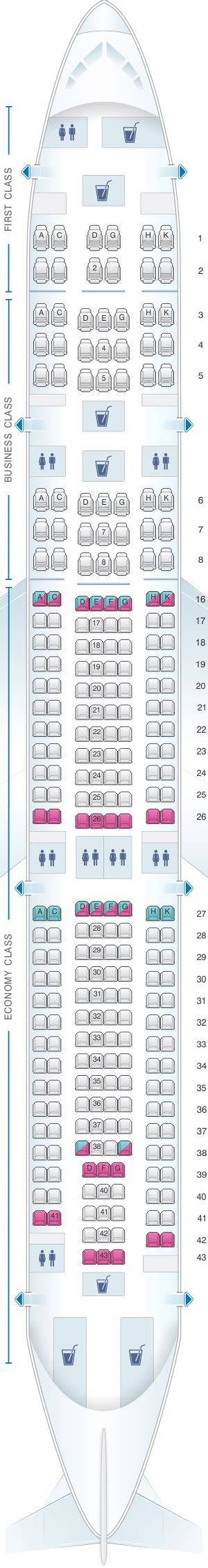 airbus a340 300 stoelindeling seat map hi fly airbus a340 300 tqy tqz 267pax seatmaestro