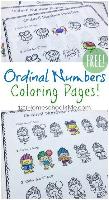 ordinal numbers worksheet  images ordinal numbers