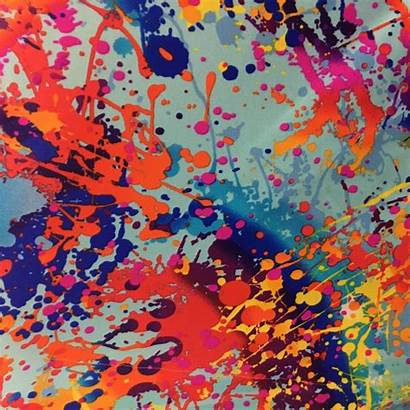 Paint Splatter Fabric Nylon Spandex Stretch Lycra