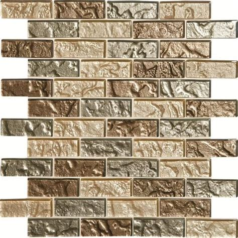 mohawk phase mosaics and glass wall 3 quot x 1 quot tile brickjoint at menards my kitchen ideas