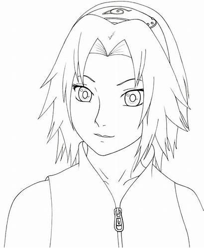 Sakura Naruto Colorir Desenhos Shippuden Haruno Branco