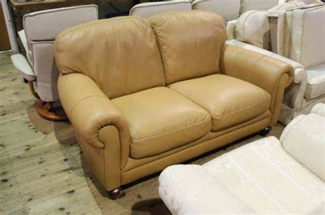 two seater settees leather leather two seater settee watson auctioneers