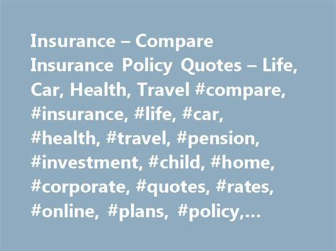 Best 20+ Compare Insurance Ideas On Pinterest