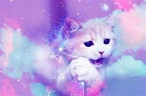 Cat Tumblr Background Galaxy Cats - Litle Pups