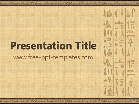 Egypt Templates Powerpoint by Egyptian Ppt Template