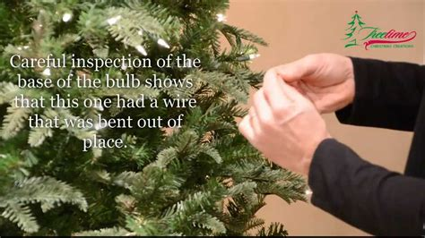 how to fix christmas lights lighting on prelit christmas