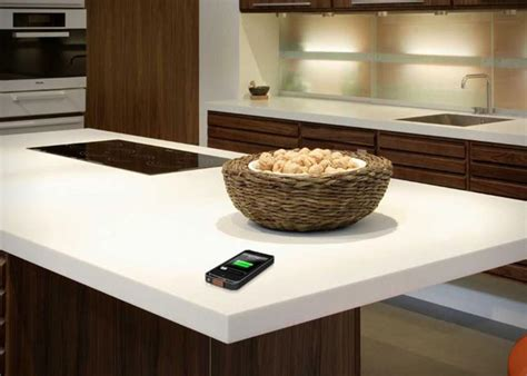 countertops dupont wireless charging corian countertop by dupont hiconsumption