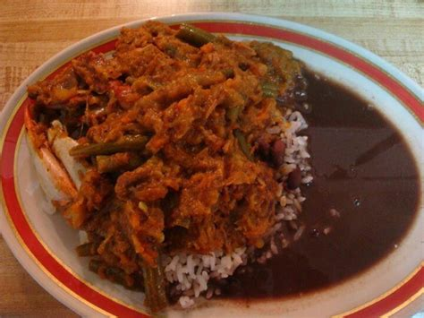 cuisine legume rice and beans with legume and crabs haitian recipes