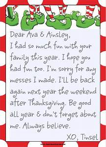 Tinsels good bye realhousewifehouston for Goodbye letter from elf on the shelf template