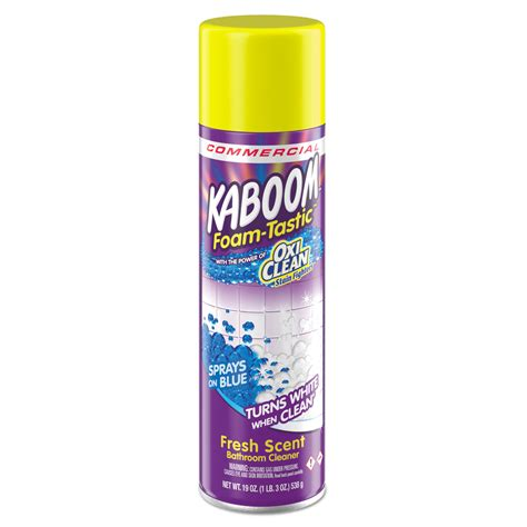 kaboom bathroom cleaner ingredients foamtastic bathroom cleaner by kaboom cdc5703700071ct