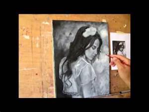 Planisphère Noir Et Blanc : dupont thierry portrait peinture l 39 huile en noir et blanc youtube ~ Melissatoandfro.com Idées de Décoration