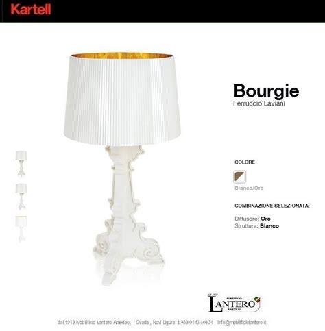 le bourgie kartell illuminazione kartell 9076 lada bourgie white lada