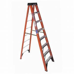 Shop Werner 8-ft Fiberglass 300-lbs Type IA Step Ladder at
