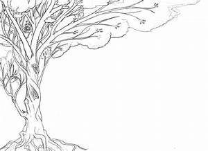 Tree Lineart for background by tzigany on DeviantArt