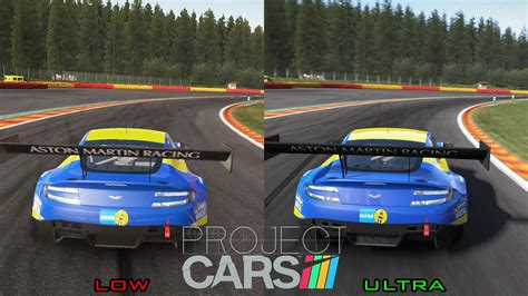 Project Cars  Low Vs Ultra  Graphics Comparison Youtube
