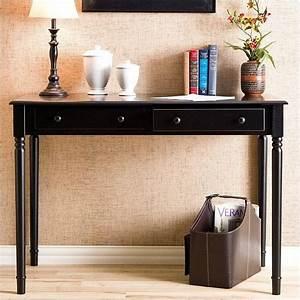 Southern enterprises parker 2 drawer writing desk in satin for In home furniture enterprise
