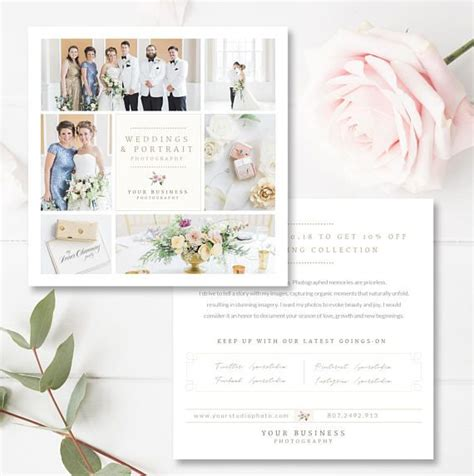 wedding photographer flyer design wedding photography