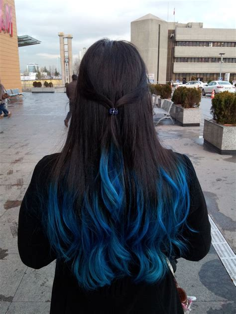 images  hair  pinterest blue tips dyed