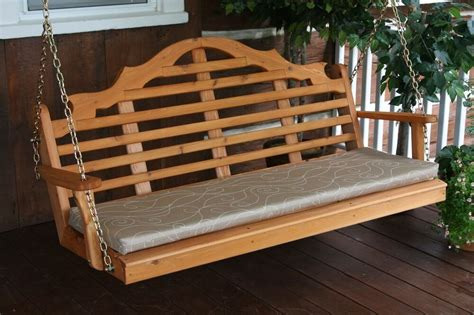3 Ft Porch Swing by Outdoor 5 Foot Marlboro Porch Swing Unfinished Pine