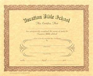 6 best images of printable vbs certificates vacation With vbs certificate template