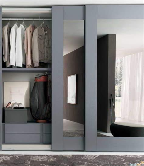 sliding mirror closet doors with gray hair mirrored