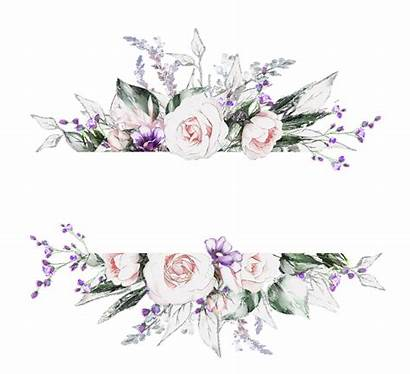 Border Flower Elegant Invitation Clipart Frame Floral