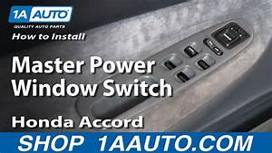 How To Install Replace Master Power Window Switch Honda