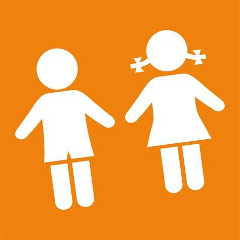 Imagen De Silueta De Niño Y Niña Hábitos De Niños