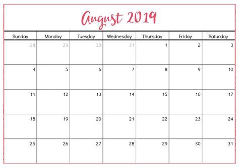 printable august calendar cute magic calendar printable