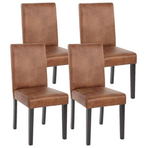 chaise simili cuir marron lot de 4 chaises de salle à manger simili cuir marron