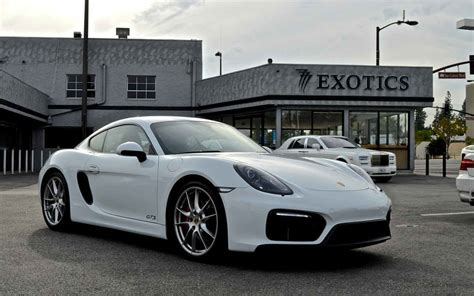 Los Angeles Porsche White Sports Car Rental  777 Exotic