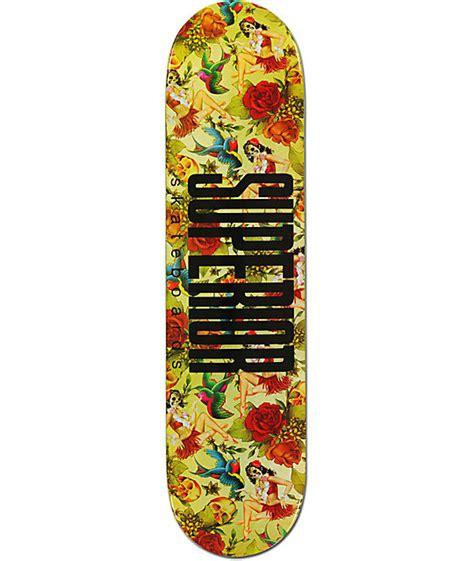 superior hula print 7 75 quot skateboard deck