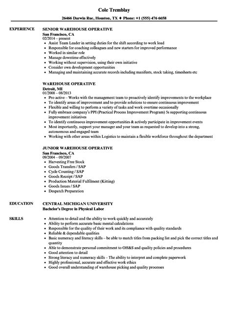 Warehouse Resume Sles by Warehouse Manual Template Best 2018